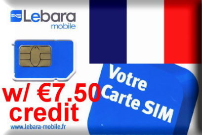 France Lebara SIM card